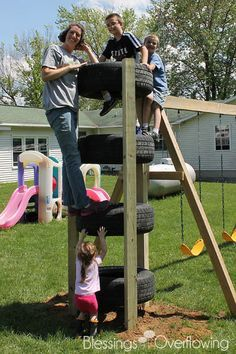 Tire Climbing Tower-...