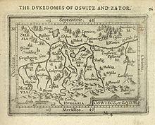 Mapa Księstwa zatorskiego 1603