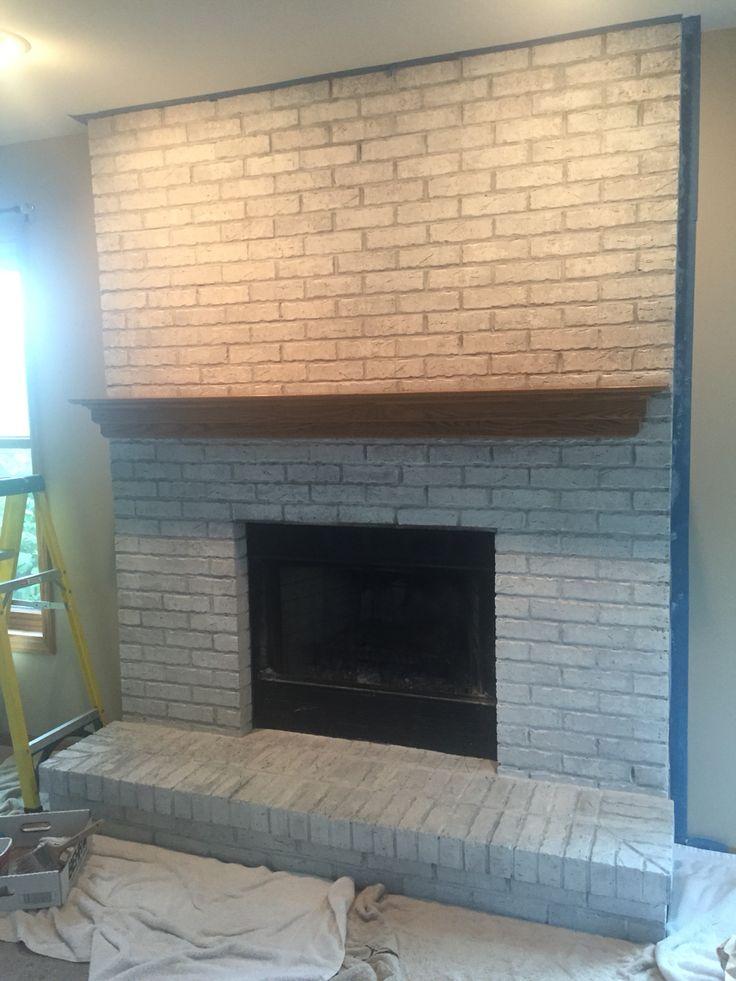 Whitewash Fireplace - good idea.