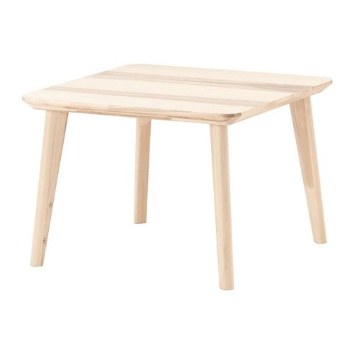 LISABO Coffee table IKEA The table surface in ash veneer and legs in solid birch give a warm, natural feeling to your room.