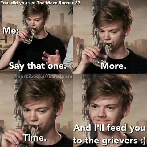 funny, newt, and the maze runner image
