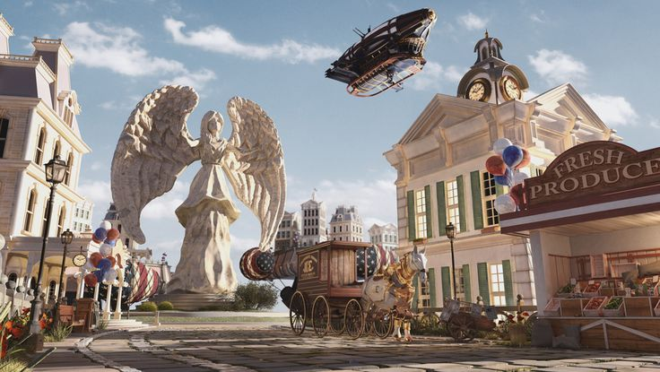 Bioshock Infinite Street by Miguel Antero   Fan Art   3D   CGSociety