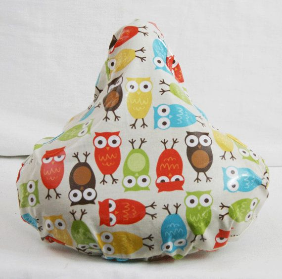 Bicycle Saddle Seat Cover Owls Urban Zoologie by ShirleySewDesigns, $15.00