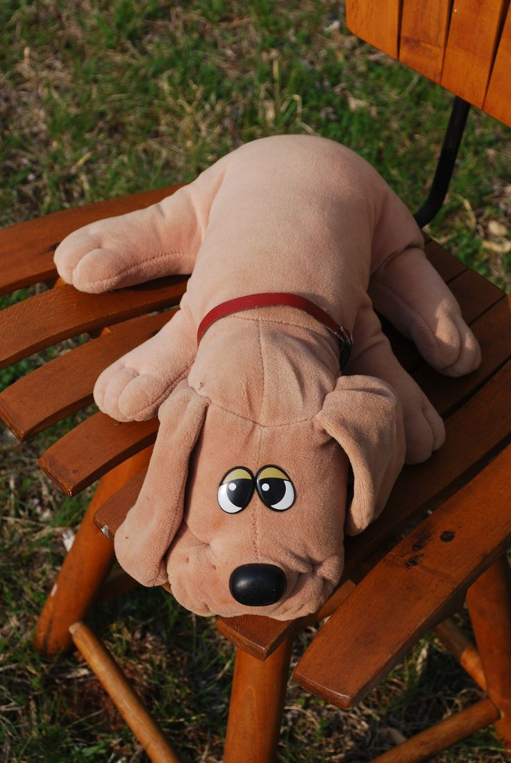 Pound Puppies...this one is like mine! I believe his name was Snuggles :)