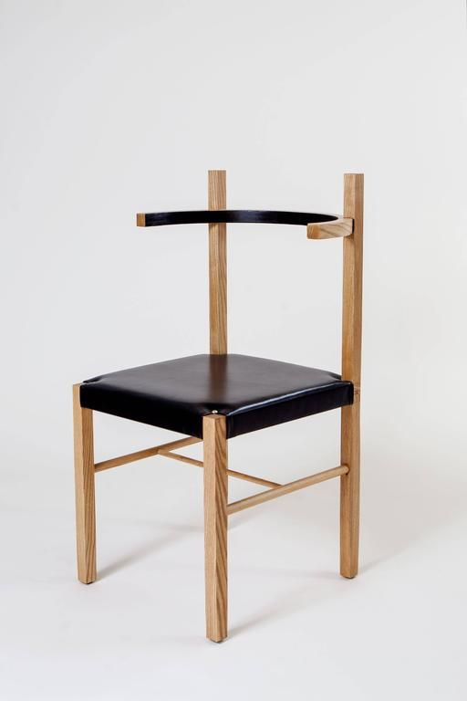 Soren Chair In Cinnamon Ashwood And Black Leather