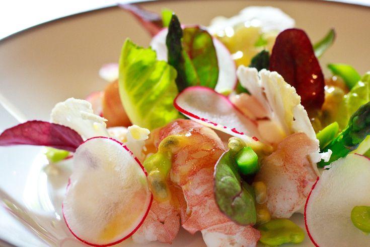 Ambroisie-Salade d'ecrvisse, vinaigrette-aux-fruits-de-la-passion