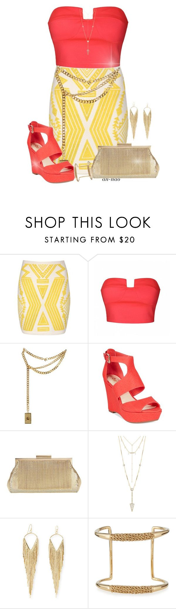 """Aztec Outfit."" by an-nao ❤ liked on Polyvore featuring Jane Norman, Ally Fashion, Moschino, Bar III, Whiting & Davis, House of Harlow 1960, Jules Smith and Chloé"