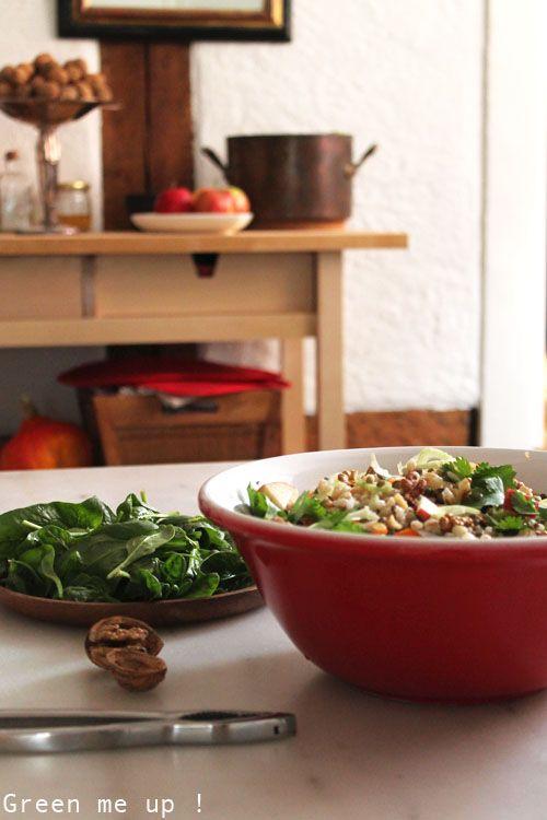 salade orge lentilles légumes