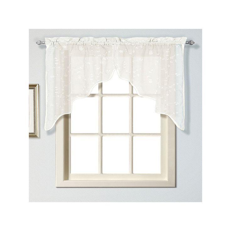 United Curtain Co. Savannah Swag Curtain Pair   51u0027u0027 X 38u0027u0027, Black