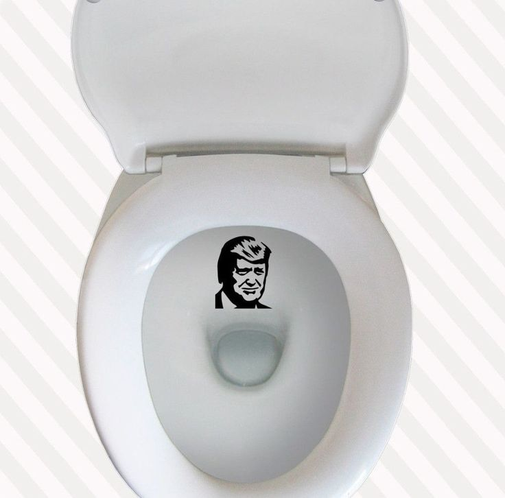 Literally PISS ON TRUMP Toilet Target Pee Vinyl Decal funny Toilet Sticker
