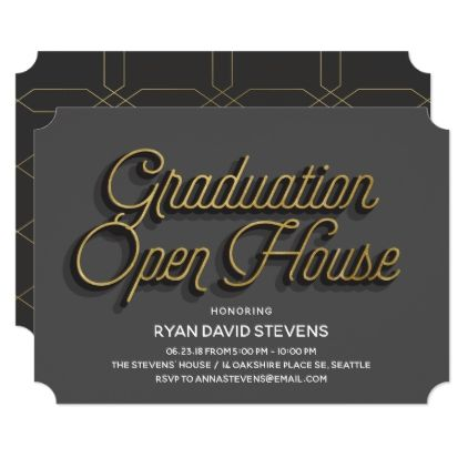 Very Sophisticated Graduation Open House Invite - graduation gifts giftideas idea party celebration