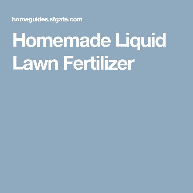 Homemade Liquid Lawn Fertilizer