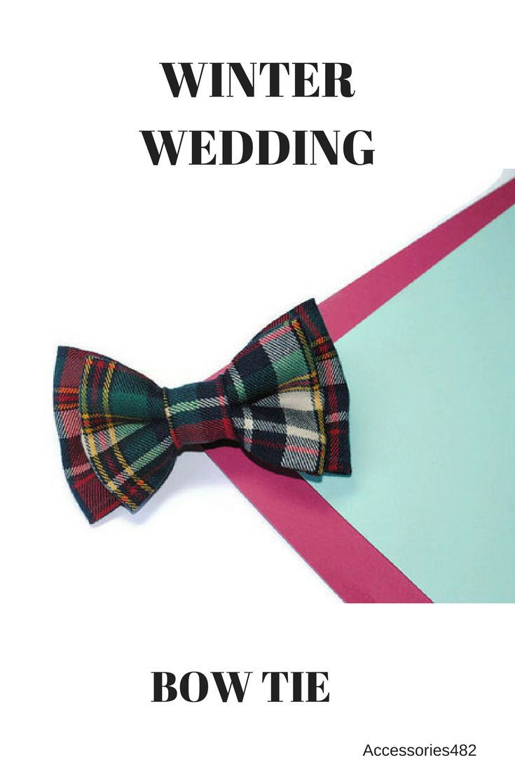 $11.50+ Tartan bow tie Wedding bow tie groom attire ideas Green red plaid bow tie Christmas bow tie winter wedding bow ties groomsmen Wool bow ties for groomsmn #wedding_winter #tartan_bowtie #groomsman_bowtie