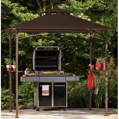 Sunjoy Replacement Canopy for Grill Gazebo Color: Brown