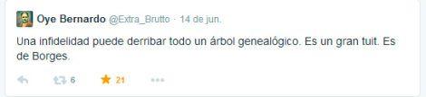 """""""Una infidelidad puede derribar todo un árbol genealógico."""" Jorge Luis Borges by @Extra_Brutto"""