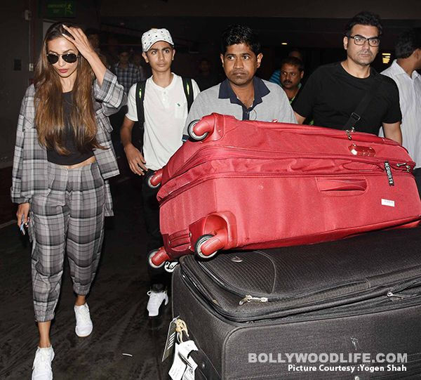 Malaika Arora and Arbaaz Khan return from New York with son Arhaan Khan – view HQ pics #FansnStars