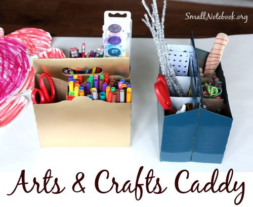 FREE arts and craft caddy made from 6 pack carrier. Maybe I'll indulge in a pack of rootbeer so I can make this. Its for the kids, of course ;-)