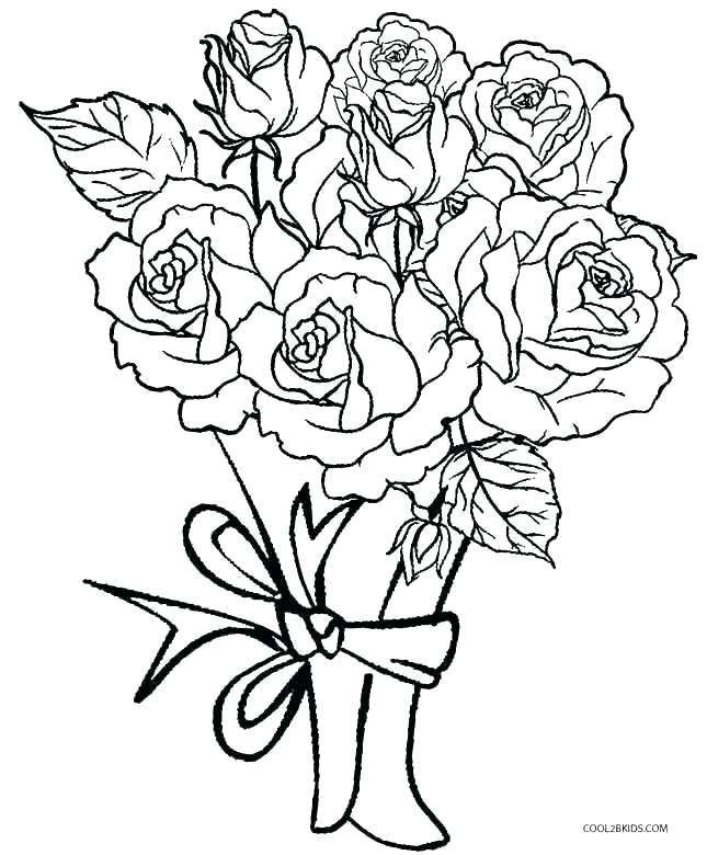Pin On Bouquet Of Flowers Coloring Pages