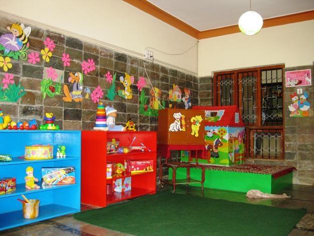 Colored shelves for a splash of color