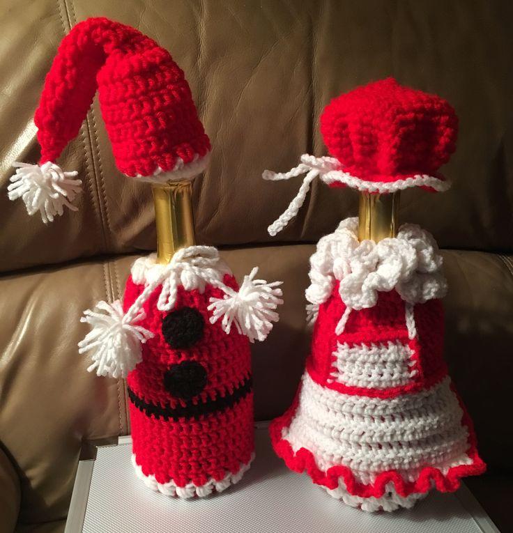 Santa & Mrs Claus crocheted by Sandy Johnson 2017
