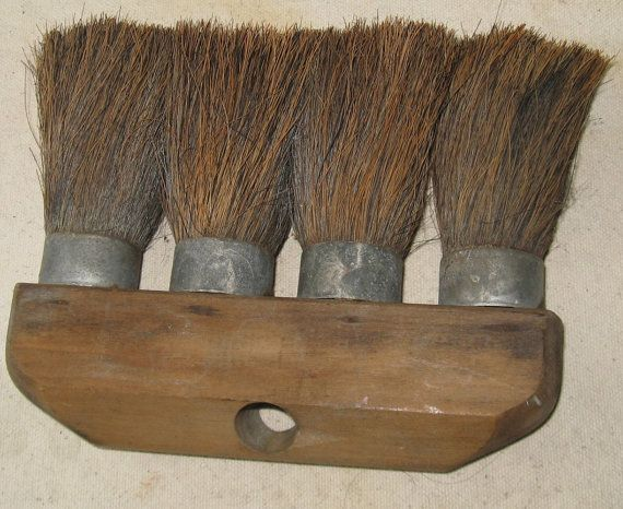 Old Primitive Unusual 4 Brush Broom Head. by FrontStreetAntiques, $22.00