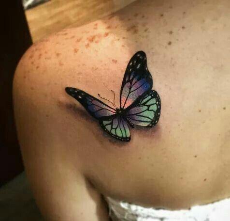 best 25 3d butterfly tattoo ideas on pinterest 3d. Black Bedroom Furniture Sets. Home Design Ideas