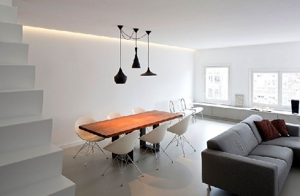 Apartment Singel by Laura Alvarez Architecture | HomeDSGN nordic living dining room