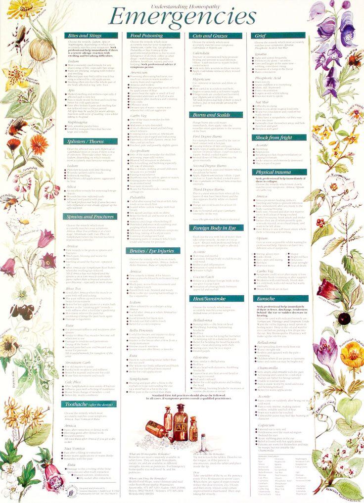 Poster on Understanding Homeopathy ~ Emergencies