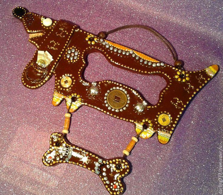 Купить ТАКСА «КОРИЦА». Денежный талисман - разноцветный, денежная собака, денежный талисман, денежный подарок