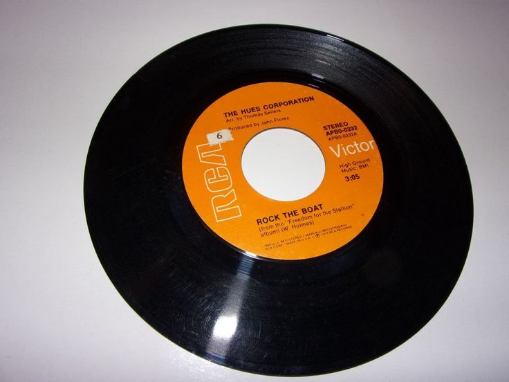 """45"""" The Hues Corporation: Rock The Boat / All Goin' Down Together / 1974 / VG #FunkSoul"""