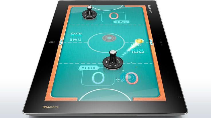 Il #Lenovo #Flex20, grazie alla sua multimodalità e all'esclusiva interfaccia Aura, può diventare un perfetto tavolo da gioco da condividere con amici e parenti. A cosa stiamo giocando in questo momento?