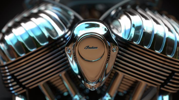 Indian Chieftain engine on Behance