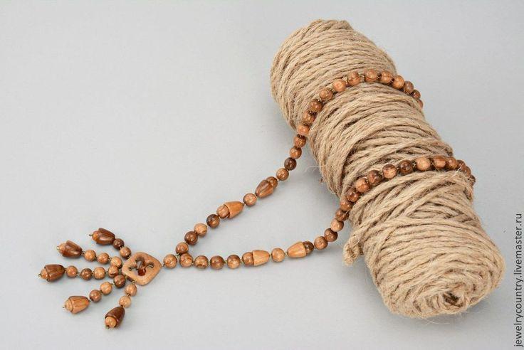 Купить Деревянные бусы ручной работы - бусы из дерева, бусы ручной работы, натуральные бусы