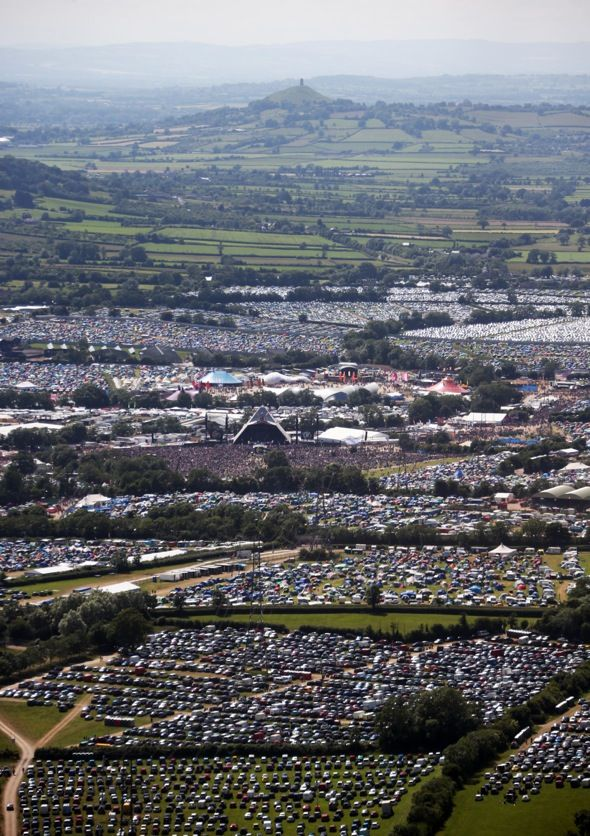 Glastonbury Festival 2013 in Pilton, Somerset. Headliners: The Arctic Monkeys, The Rolling Stones and Mumford & Sons.