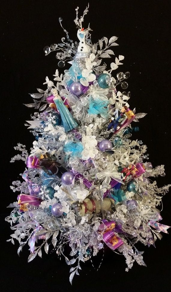 Frozen Battery Lighted Christmas Tree, Frozen Ornaments, Frozen Holiday Decoration, Frozen Themed Christmas,Frozen Decor,Frozen Holiday Tree