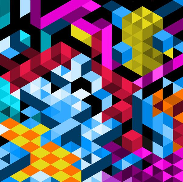 Colour and pattern used in a more graphic style