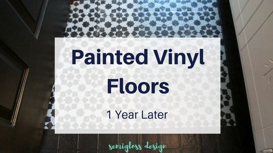 How is my painted vinyl floor holding up after a year? Details on how well they held up and if it's worth it to paint vinyl floors as a temporary solution.