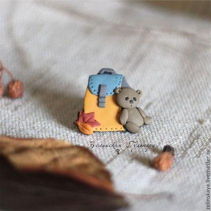 Детская бижутерия ручной работы. Ярмарка Мастеров - ручная работа В первый класс. Детская брошь. Handmade.