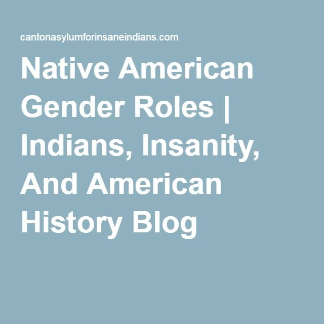 Native american gender roles