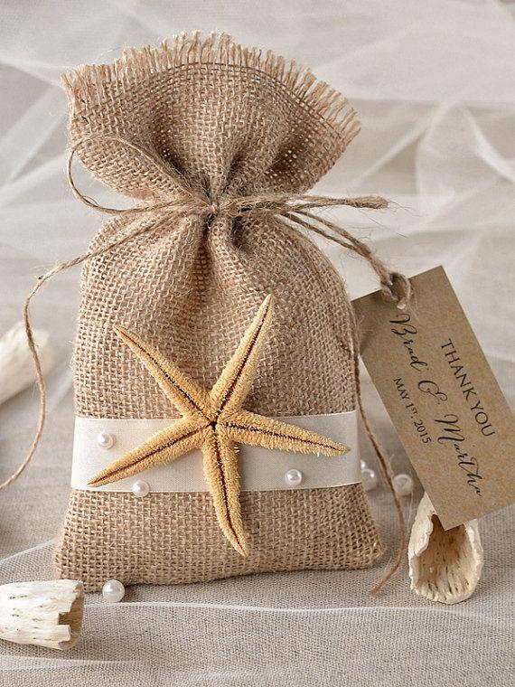 Beach Rustic Favor Bag Destination  Wedding Bag  by 4LOVEPolkaDots, $1.90