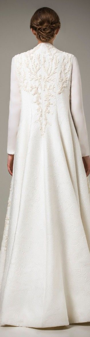 Ashi Studio Caftan 2016 | a Ivory Dress Coat | Bridal Coat | Wedding Dress Ideas