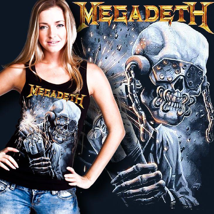 Rock & Love Store © | Türkiye'nin Rock Tişört Mağazası, ROCK - METAL GRUP TİŞÖRTLERİ, Megadeth tişörtleri, Megadeth t shirt, Megadeth tişört : MEGADETH T SHIRT VIC RATTLEHEAD KADIN YÜZÜCÜ ATLET
