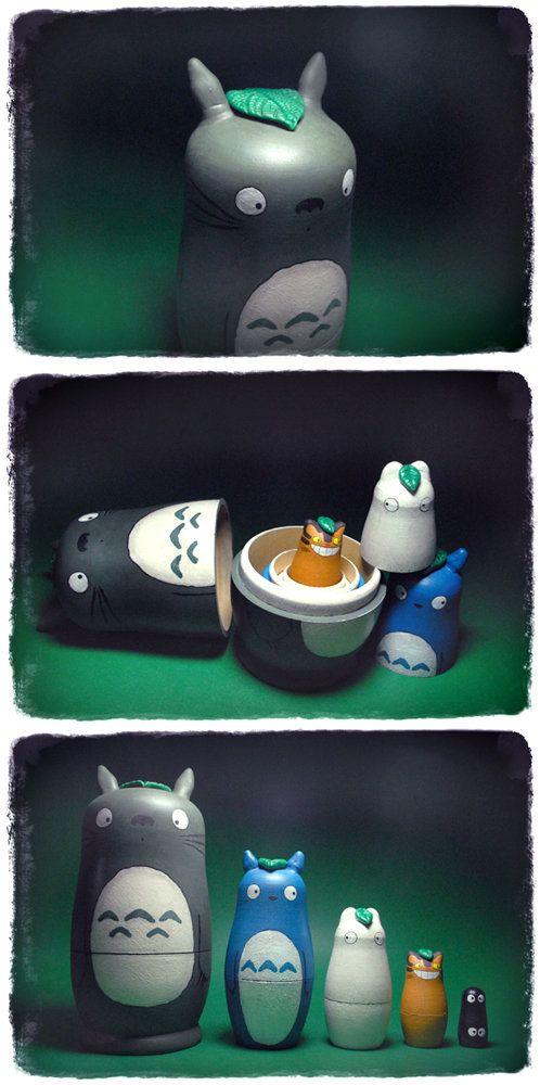 Totoro Matryoshka Doll by *Blackmago