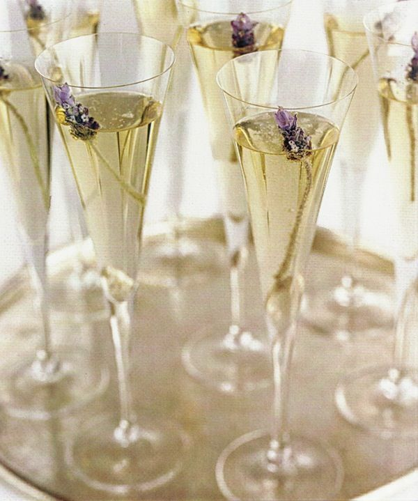 Lavender and champagne...ooooooohhhhh, fancy!