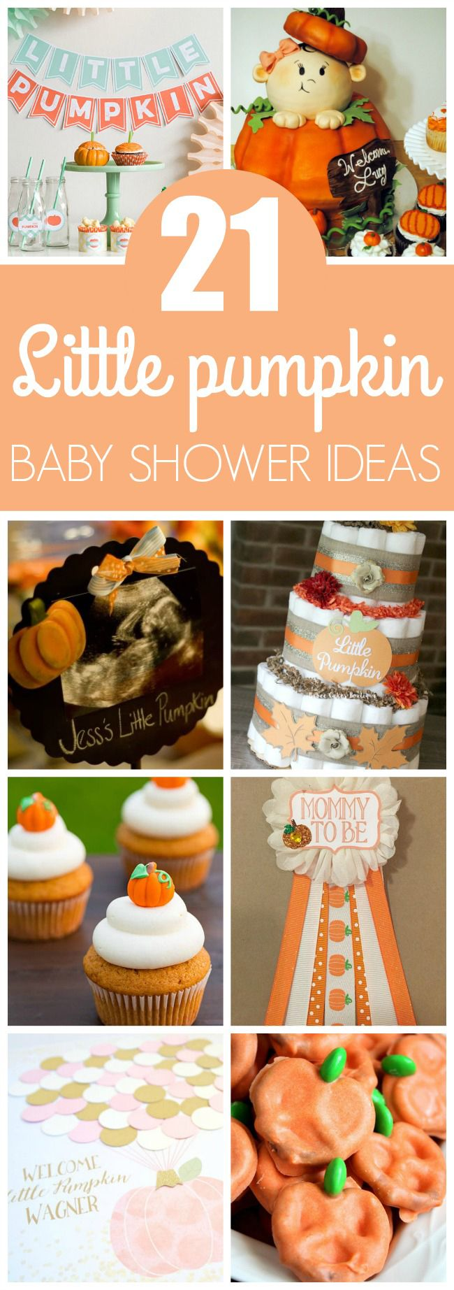 21 Little Pumpkin Baby Shower Ideas featured on Pretty My Party