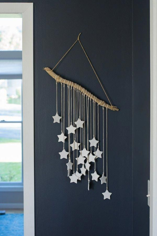 DIY salt dough star wall art #christmasdecorations…