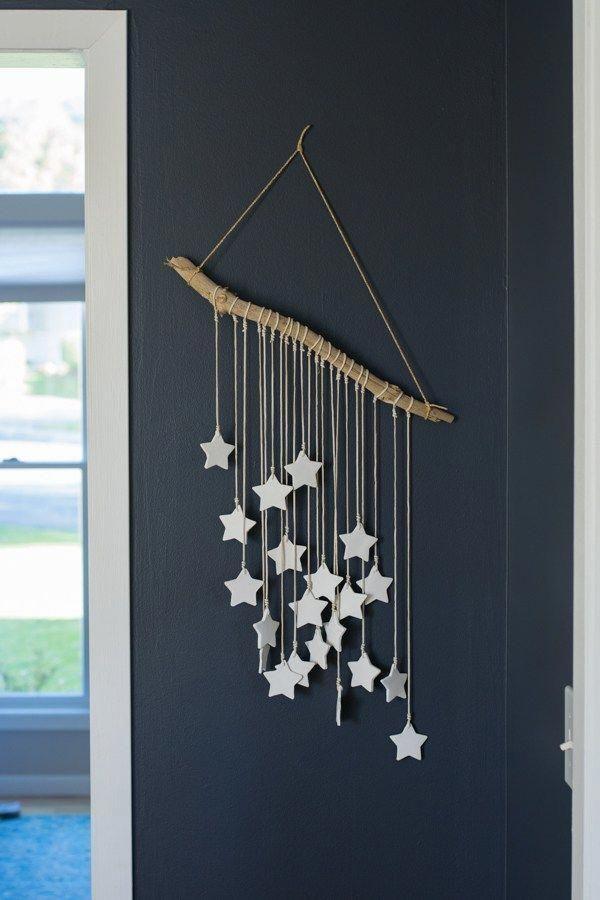 DIY salt dough star wall art #christmasdecorations…
