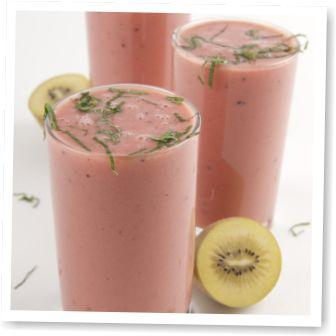 Zespri - Zespri Recepten: Verfrissende smoothie met kiwi en watermeloen.