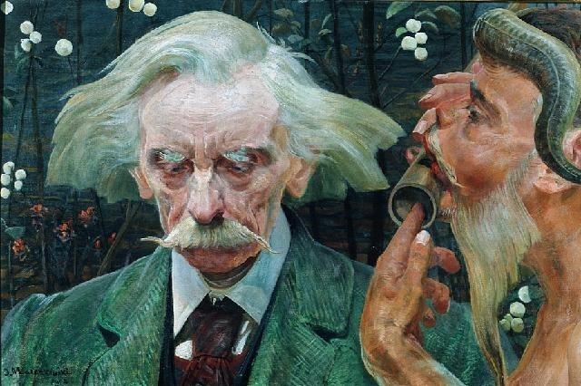 'Portrait of Stanislaw Bryniarskiego'  - Jacek Malczewski  (1854-1929)