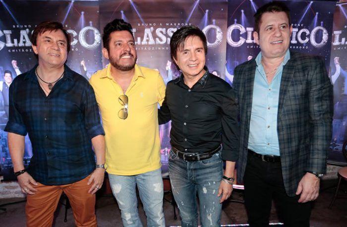 DVD Clássico traz sucessos de Bruno e Marrone e Chitãozinho e Xororó